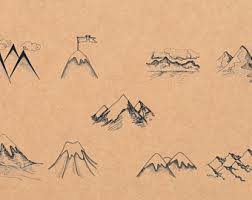 mountain silhouette etsy