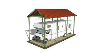 Rv Storage Plans Flat Roof Carport Plans Myoutdoorplans Free Woodworking Plans