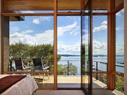 terrific renovated master bedroom design with glass sliding