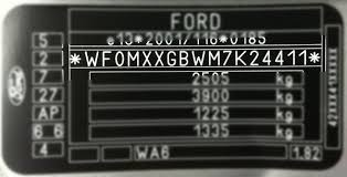 ford paint codes ford paint code location