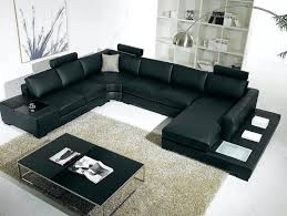 Dobson Sectional Sofa Dobson Black Leather Modern Sectional Sofa Small Black Leather In
