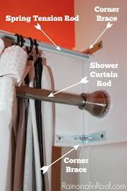 Cornice Curtains Diy Shower Cornice With Black U0026 White Shower Curtains
