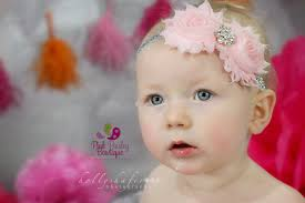 baby hair bows pink silver baby headband baby girl headbands baby hair