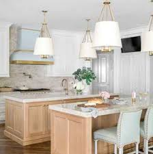 blue kitchen island with oak cabinets 21 kitchen makeovers with before and after photos best