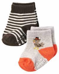 boys or s 2 pack pair thanksgiving socks 0 3 months