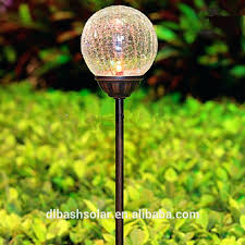 Landscaping Lights Solar Lovely Blown Glass Solar Garden Lights For Solar Crackle