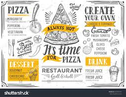 pizza food menu restaurant cafe design stock vector 607043165