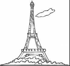 eiffel tower coloring page rapunzels tower coloring page free