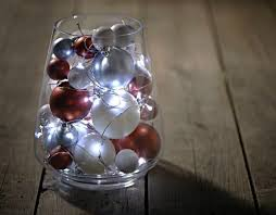 Decorative Lights For Vases Diy Wedding Decor No Flower Centerpiece Baubles Fairy Lights And