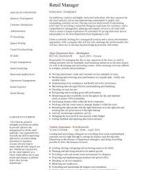 peaceful ideas retail manager resume examples 5 manager cv