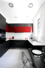 Red Black White Kitchen - kitchen in black white and red interior design ideas ofdesign