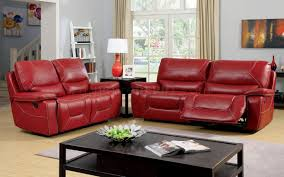 Sofa Loveseat Recliner Sets Newburg Reclining Sofa Cm6814rd In Red Leather Match W Options