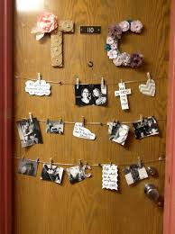 door decoration string is us together then we each