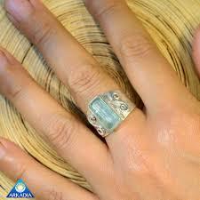 arkadia wedding band aquamarine sacred spiral sterling silver ring arkadia