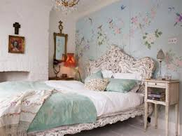 Blue And White Bedroom Wallpaper Decorating Charming Traditional American Romantic Home Decoration