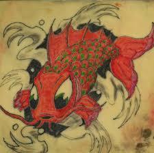 koi tattoo on practice skin by protegeart on deviantart