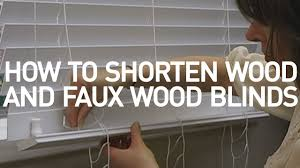 Wooden Blinds Com How To Shorten Wood And Faux Wood Blinds Blinds Com Diy Youtube