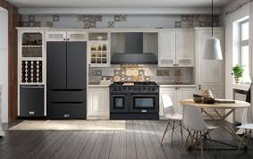 what color cabinets go well with black stainless steel appliances what s the trend in kitchen appliances