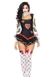 Masquerade Ball Halloween Costumes Classic Halloween Costume Circus Clown Poker Queen Party