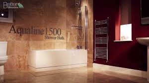 aqualine 1500 straight shower bath youtube