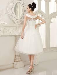 milanoo robe de mari e robe de mariée a ligne ivoire avec perles longueur genou milanoo