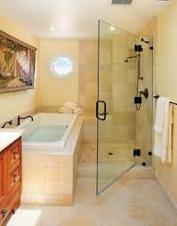 nice compromise between shower and tub house bathin time
