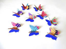colorful butterfly confetti 3d paper butterflies birthday party