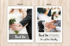 thank you cards wedding wedding thank you card template flyer templates creative market