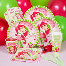 strawberry shortcake party supplies strawberry shortcake party pack for 8 walmart