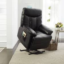 portfolio prolounger lya black renu leather power recline and lift