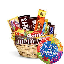 birthday baskets for him happy birthday candy basket balloon at send flowers