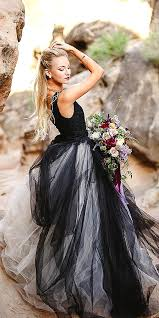 30 black wedding dresses with edgy elegance black wedding