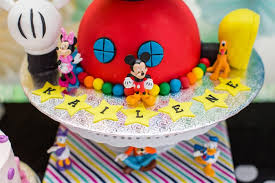 mickey mouse clubhouse birthday cake kara s party ideas cake detail from a modern rainbow mickey mouse