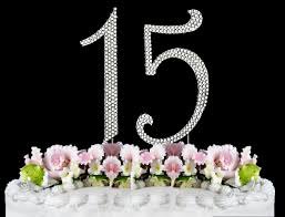 amazon com rhinestone cake topper number 15 by other kitchen