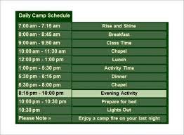camp schedule template summer camp daily schedule camp buffalo