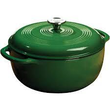 cast iron enamel cookware lodge enameled cast iron 6 quart dutch oven green ec6d53 walmart com