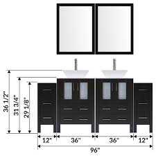 modern bathroom vanity set with mirror and sink lv2 c18 96 b