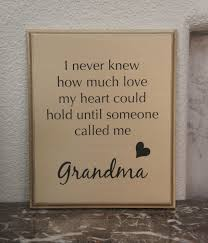 grandparent plaques plaque never knew how much my heart could hold