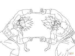 super saiyan fusion coloring page free printable coloring pages