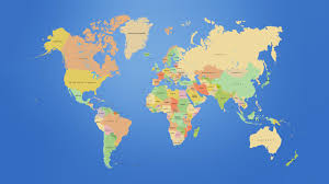 India On The World Map by This Is A Map Of The World Showing The Continents And The
