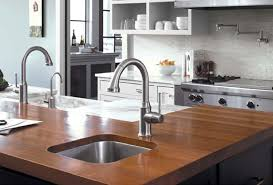 kitchen grohe kitchen faucet with concrete counter top and white