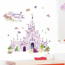 dream castle 3d wall stickers removable wallpaper for kids rooms