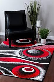 Red Black White Area Rugs Amazon Com 1504 Red 7 U002710x10 U00276 Area Rug Carpet Large New Kitchen