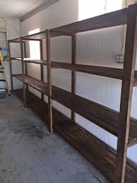 Build Wood Garage Storage by Stained 2x4 Diy Garage Storage Favorite Plans Ana White Diy