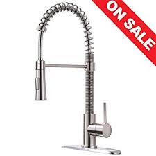 free kitchen faucet kingo home lead free modern stainless steel single handle pull