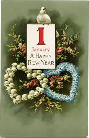 happy new year post card fashioned happy new year clipart clipart collection happy