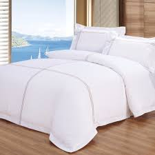wholesale luxury 5 star hotel embroider bed linen made in china