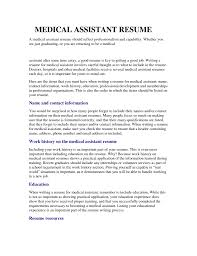 Resume Example For Medical Assistant by Medical Assisting Resume Job Samples Resume Templates