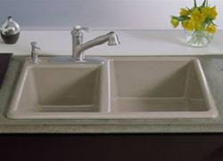 KOHLER Canada Kitchen Sinks Cast Iron Care And Cleaning Tech Info - Kitchen sink cast iron