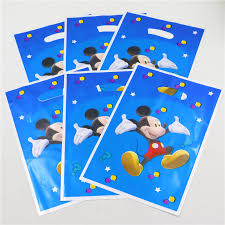 mickey mouse gift bags 10pcs lot mickey mouse theme party decoration return gift loot bag